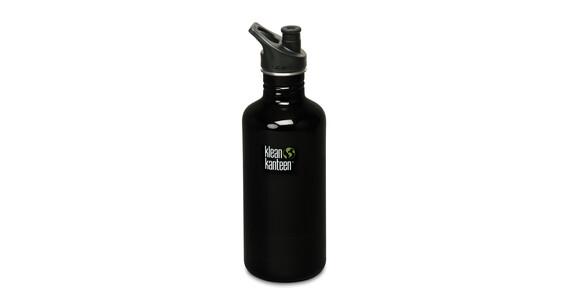 Klean Kanteen Classic Drinkfles met Sport Cap, 1182 ml zwart